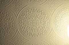 廊下の天井にはレース模様のようなクロスが貼られています。(2011-07-29,共用部,OTHER,4F)