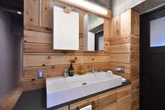 洗面台の様子。幅が広く使い勝手が良さそうです。(2019-12-12,共用部,WASHSTAND,2F)