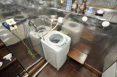 洗濯機の様子。(2009-11-12,共用部,LAUNDRY,1F)