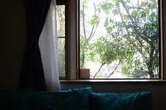 窓の外は緑に溢れています。(2013-03-28,共用部,LIVINGROOM,1F)