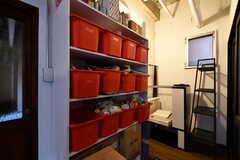 専有部ごとに使用できる食材用ボックスの様子。(2018-03-19,共用部,KITCHEN,1F)