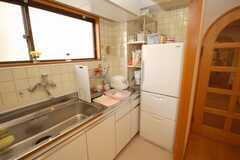 シェアハウスのキッチンの様子。(2008-09-08,共用部,KITCHEN,4F)