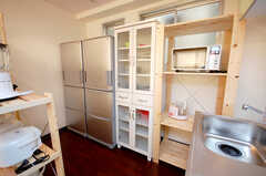 キッチン周辺の様子。(2008-11-25,共用部,KITCHEN,4F)