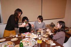 ウエルカムパーティーの様子。(2008-12-19,共用部,PARTY,4F)
