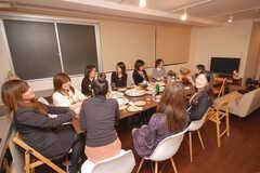 ウエルカムパーティーの様子2。(2008-12-19,共用部,PARTY,4F)
