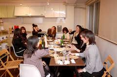 ウエルカムパーティーの様子3。(2008-12-19,共用部,PARTY,4F)