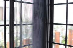 窓には網戸が設置されています。(105号室)(2017-10-17,専有部,ROOM,1F)
