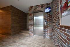 エレベーターホールの様子2。(2017-10-17,共用部,OTHER,1F)