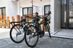レンタル自転車の様子。(2017-10-17,共用部,GARAGE,1F)