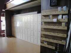 シューズBOXとメールBOXの様子。(2008-02-07,共用部,OTHER,1F)