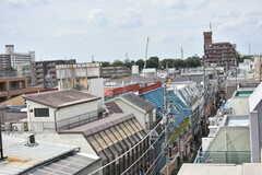 屋上から見たシェアハウス周辺の様子2。(2018-07-13,共用部,OTHER,5F)