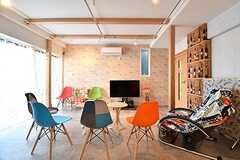 コミュニケーションルームの様子。3棟全体で使える共用部です。(Acqua棟)(2017-01-16,共用部,LIVINGROOM,1F)