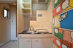 キッチンの様子。(101号室)(Oliva棟)(2017-01-05,専有部,ROOM,1F)