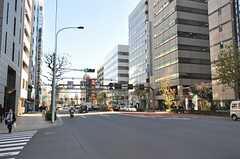 各線・茅場町駅からシェアハウスへ向かう道の様子。(2014-01-14,共用部,ENVIRONMENT,1F)