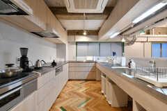 キッチンの様子2。シンクとIHヒーターは2セット設置されています。(2017-12-08,共用部,KITCHEN,2F)