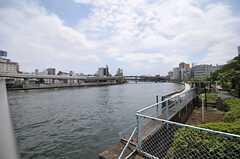 直ぐ目の前は隅田川です。(2013-08-06,共用部,ENVIRONMENT,1F)