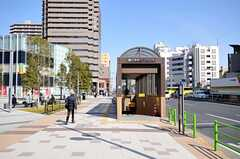 都営大江戸線・勝どき駅の周辺には駐輪場があります。(2012-02-24,共用部,ENVIRONMENT,1F)