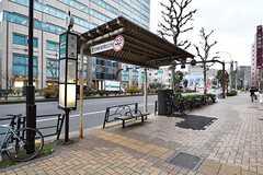 最寄りのバス停の様子。(2016-12-22,共用部,ENVIRONMENT,1F)