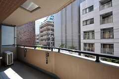 ベランダの様子。(303号室)(2011-08-05,専有部,ROOM,3F)