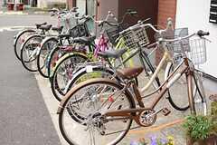 自転車置き場の様子。(2015-06-28,共用部,GARAGE,1F)