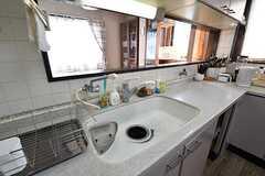 シンクの様子。奥にキッチン器具が置かれています。(2017-04-24,共用部,KITCHEN,3F)