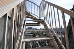 屋上へ続く階段の様子。(2013-03-12,共用部,OTHER,3F)