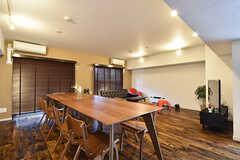 2~4Fまでの入居者を対象とした、ラウンジの様子。家具はさらに増える予定です。(2016-09-27,共用部,LIVINGROOM,3F)