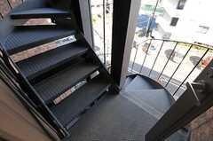 非常階段の様子。(2012-01-26,共用部,OTHER,4F)