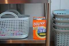 柔軟剤と洗剤は事業者より提供されます。※女性専用フロアです。(2012-02-27,共用部,LAUNDRY,6F)