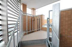 屋上へ出る階段の様子。(2013-11-07,共用部,OTHER,8F)