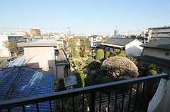 お隣は立派な庭。(406号室)(2013-03-11,専有部,ROOM,4F)