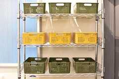 収納の様子。収納は専有部ごとに用意されています。(2016-11-29,共用部,BATH,1F)