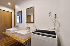洗濯機の様子。(2017-06-25,共用部,LAUNDRY,1F)