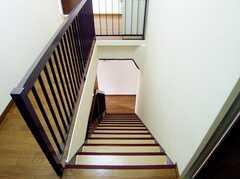 階段の様子。(3Fから2F)(2006-07-13,共用部,OTHER,3F)