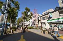 シェアハウスから都営新宿線・船堀駅へ向う道の様子。(2015-03-25,共用部,ENVIRONMENT,1F)