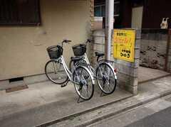 自転車置き場の様子。(2008-03-21,共用部,GARAGE,1F)