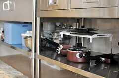 鍋類はシンク下に収納します。(2011-04-20,共用部,KITCHEN,6F)