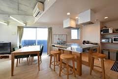 アイランド・キッチンです。(2018-09-07,共用部,LIVINGROOM,6F)