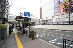 駅前のバス停留所。(2016-03-30,共用部,ENVIRONMENT,1F)