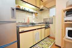 シェアハウスのキッチンの様子。(2009-06-08,共用部,KITCHEN,3F)