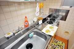 シェアハウスのキッチンの様子2。(2009-06-08,共用部,KITCHEN,3F)