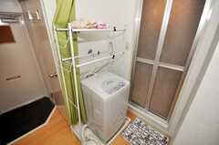 洗濯機の様子。(2009-08-25,共用部,LAUNDRY,3F)