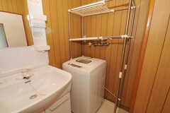 洗濯機の様子。(2010-07-06,共用部,LAUNDRY,4F)
