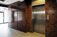 エレベーターの様子。4、5,6Fがシェアハウスです。5Fにリビングがあります。(2012-08-13,共用部,OTHER,1F)