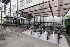 自転車置場の様子。(2012-08-13,共用部,GARAGE,1F)