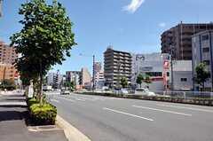 シェアハウスから東京メトロ東西線・葛西駅へ向かう道の様子。(2012-08-13,共用部,ENVIRONMENT,1F)
