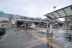 東京メトロ東西線・葛西駅前の様子。バスも充実しています。(2014-04-03,共用部,ENVIRONMENT,1F)