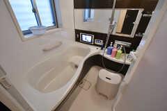 バスルームの様子。バスタブが広いです。(2017-04-18,共用部,BATH,1F)
