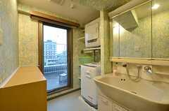 水まわり設備の様子。洗面台とランドリーがあります。(2014-06-11,共用部,OTHER,5F)