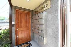 玄関の様子。右手のポストは専有部ごとに用意されています。  (2016-05-19,周辺環境,ENTRANCE,1F)